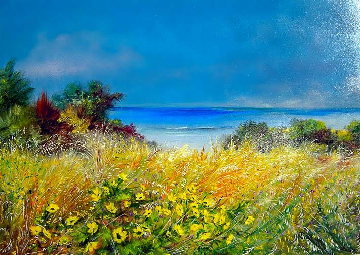 Paesaggio marino [COD. 161210] [100x70 cm] olio su tavola