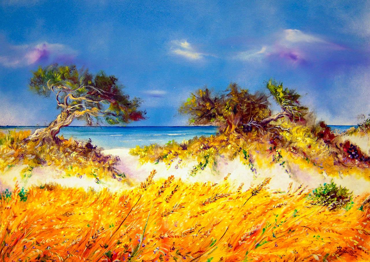 Paesaggio marino [COD. 050912] [70x50 cm] olio su tela