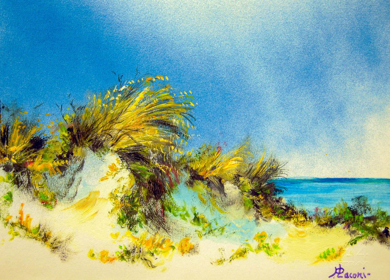 Paesaggio marino [COD. 2833] [33x24 cm] pittura ad olio