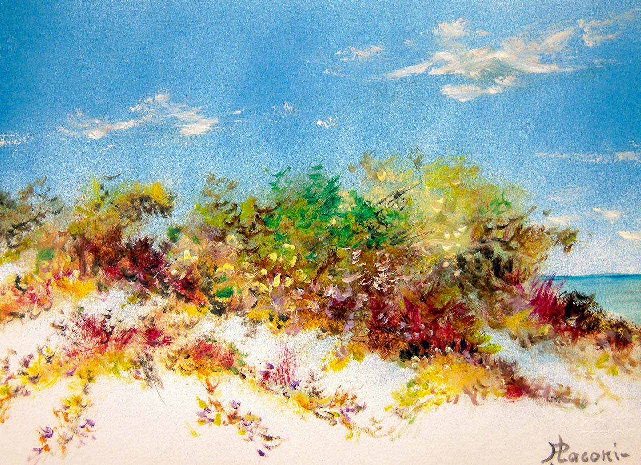 Paesaggio marino [COD. 2834] [33x24 cm] pittura ad olio