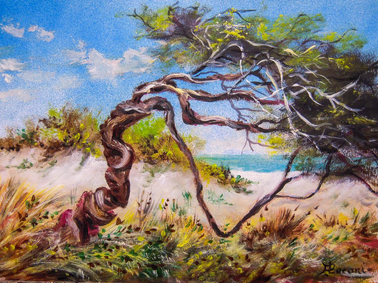 Paesaggio marino [COD. 2837] [33x24 cm] pittura ad olio