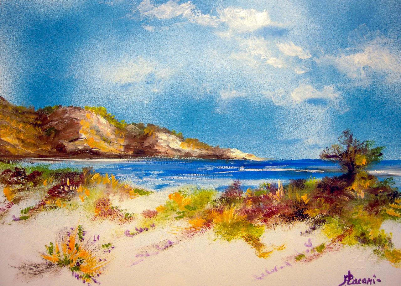Paesaggio marino [COD. 3016] [33x24 cm] pittura ad olio