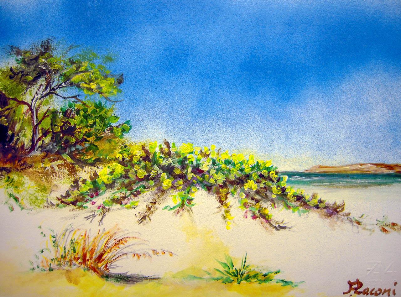 Paesaggio marino [COD. 3019] [33x24 cm] pittura ad olio