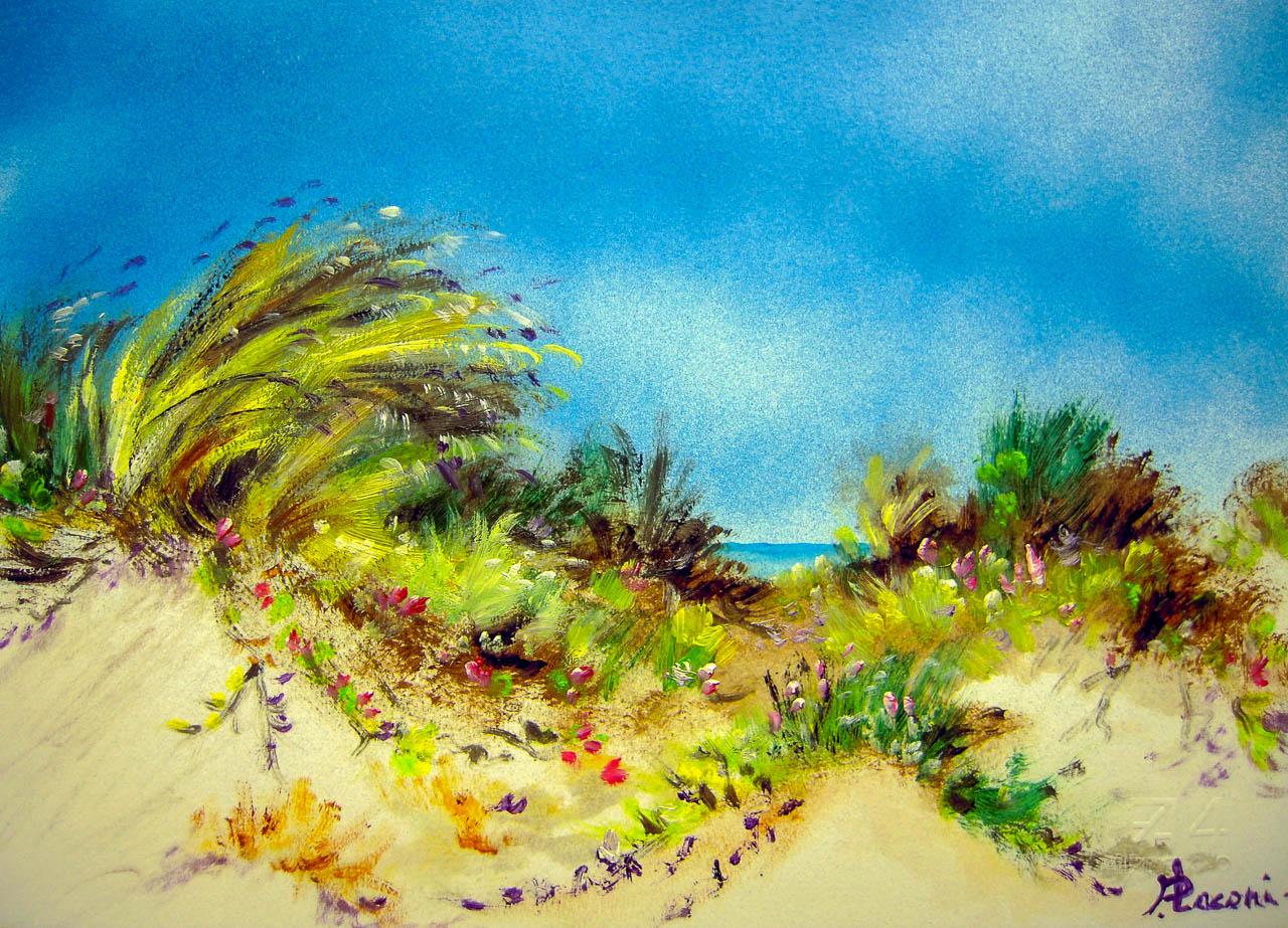 Paesaggio marino [COD. 3020] [33x24 cm] pittura ad olio