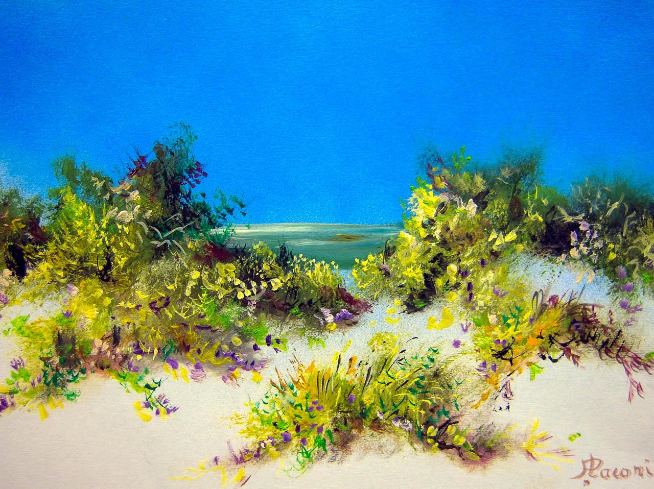 Paesaggio marino [COD. 3022] [33x24 cm] pittura ad olio