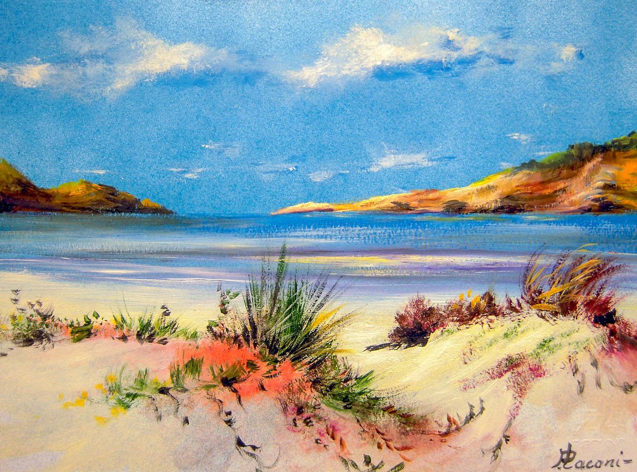 Paesaggio marino [COD. 3024] [33x24 cm] pittura ad olio