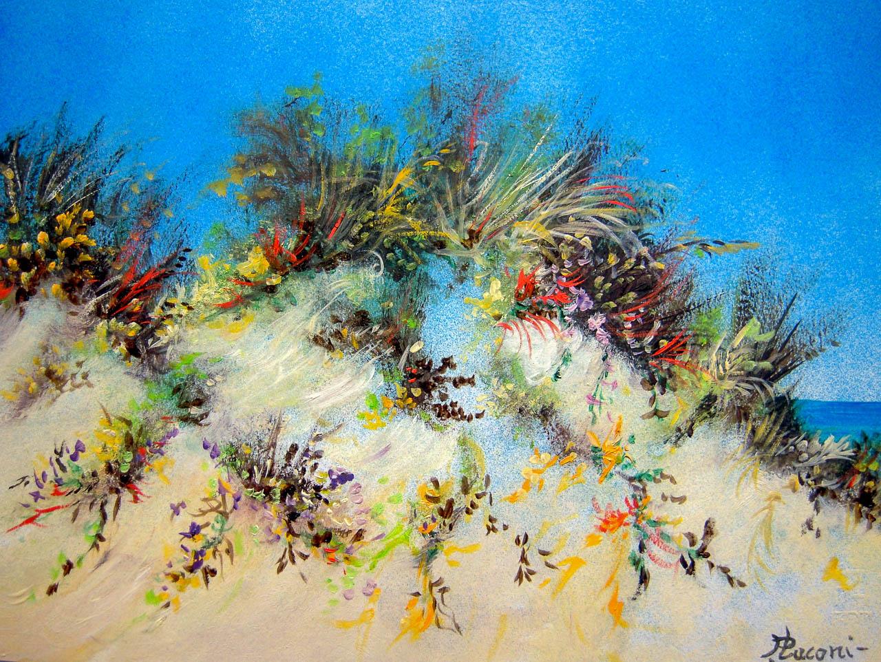 Paesaggio marino [COD. 3025] [33x24 cm] pittura ad olio