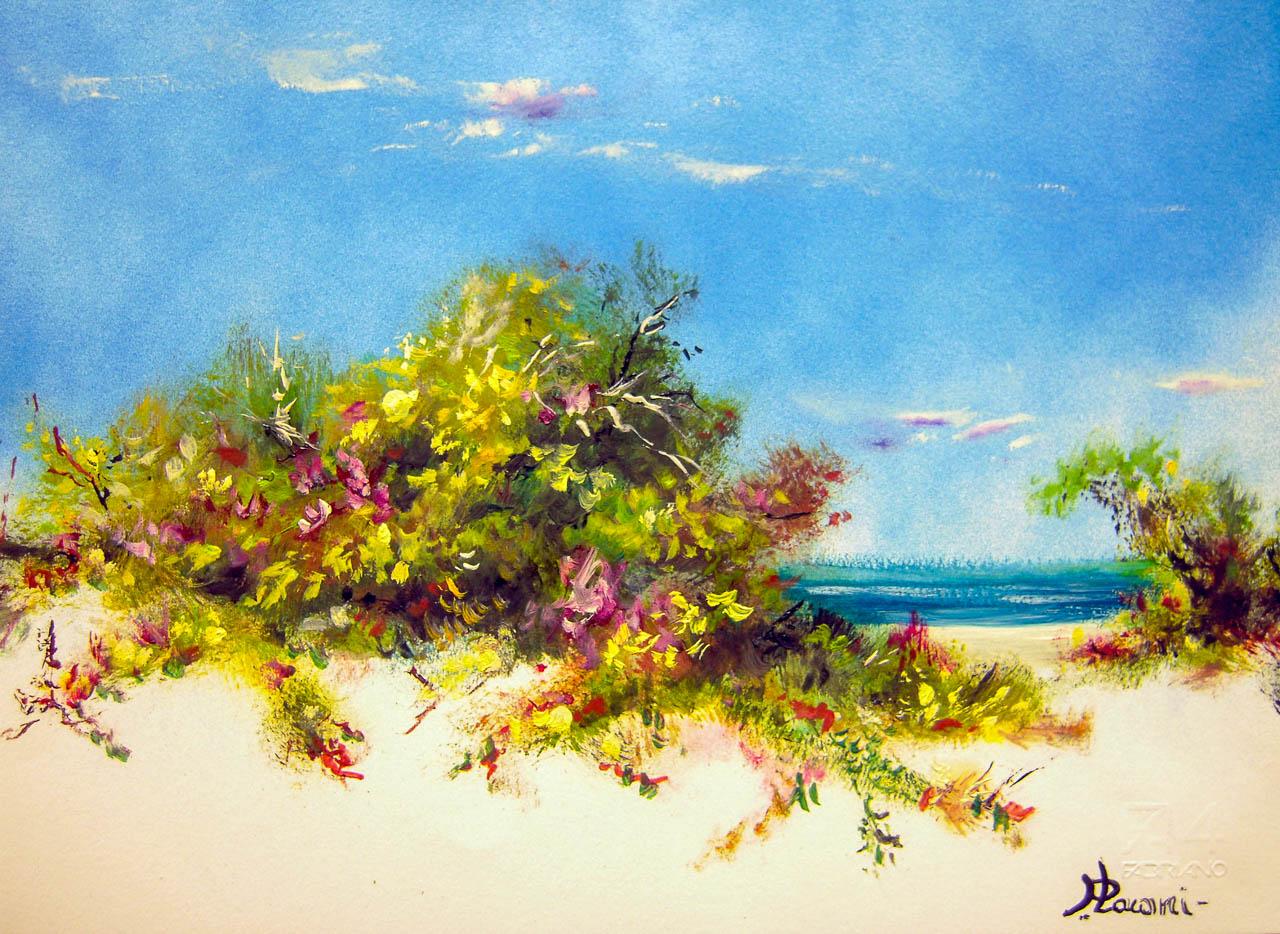 Paesaggio marino [COD. 3027] [33x24 cm] pittura ad olio