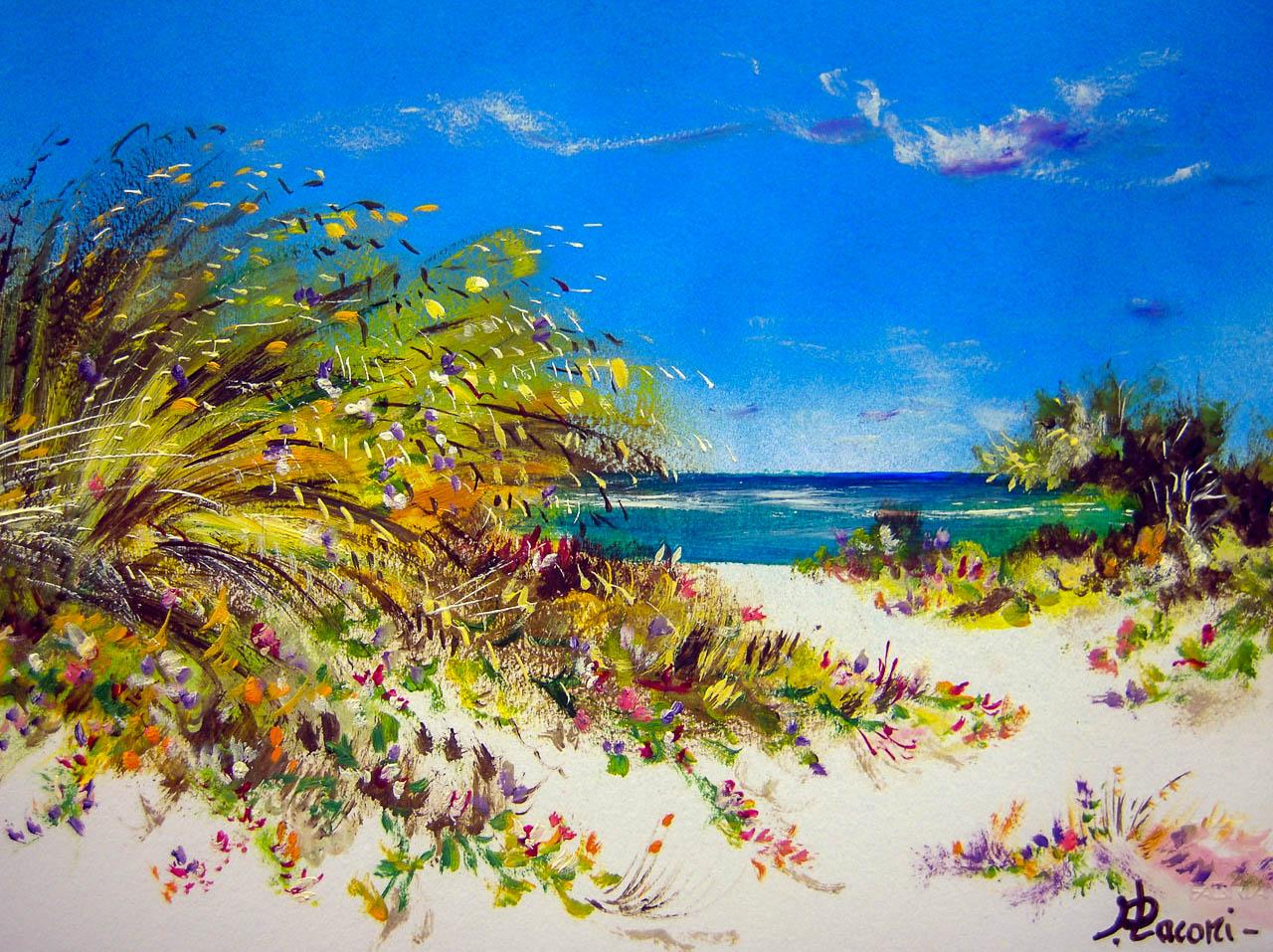 Paesaggio marino [COD. 3029] [33x24 cm] pittura ad olio