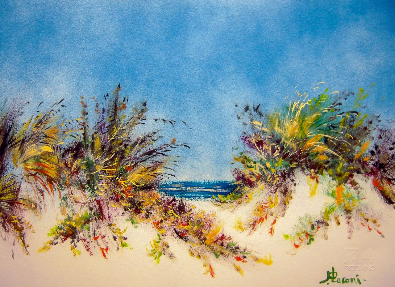 Paesaggio marino [COD. 280912] [33x24 cm] pittura ad olio