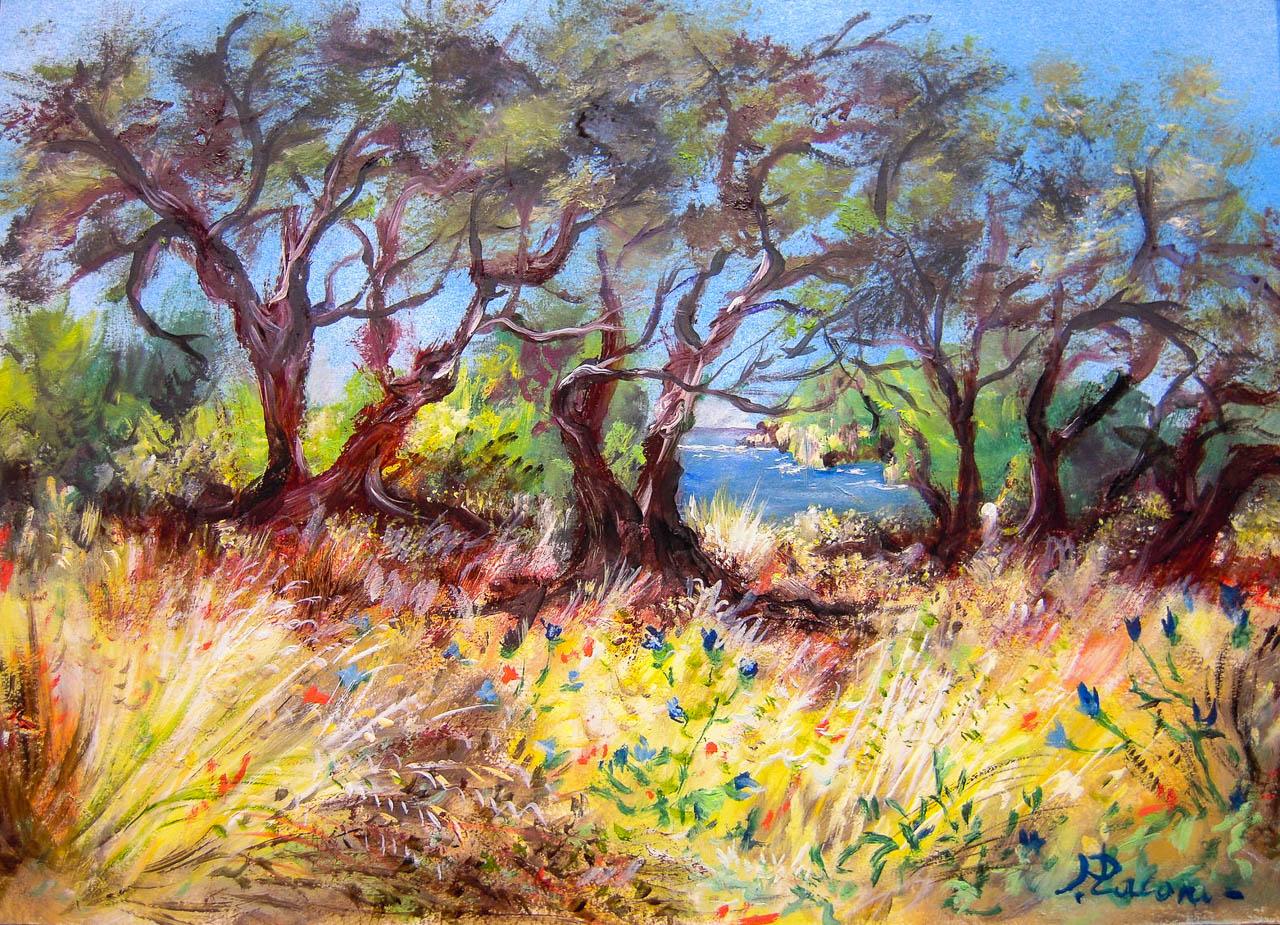 Paesaggio [COD. 100512] [33x24 cm] pittura ad olio