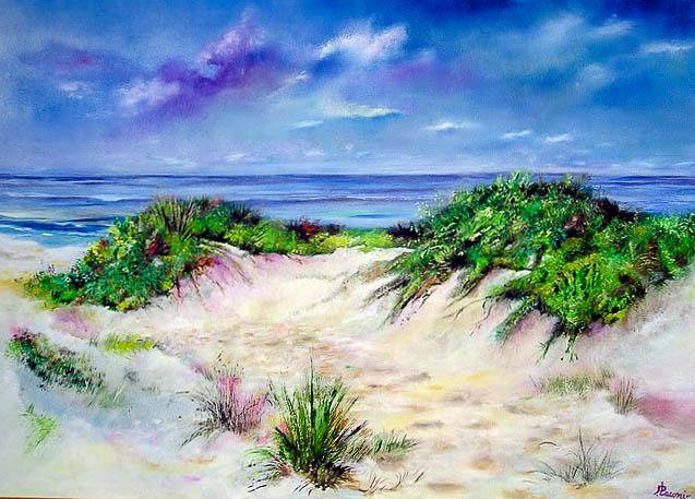 Paesaggio marino [COD. 161009] [100x70 cm] olio su tavola