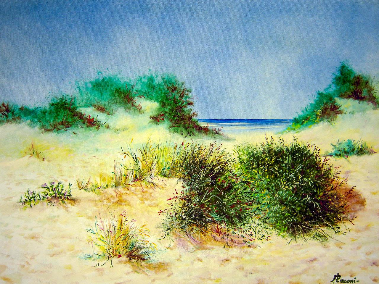 Paesaggio marino [COD. 030110] [50x70 cm] olio su tela